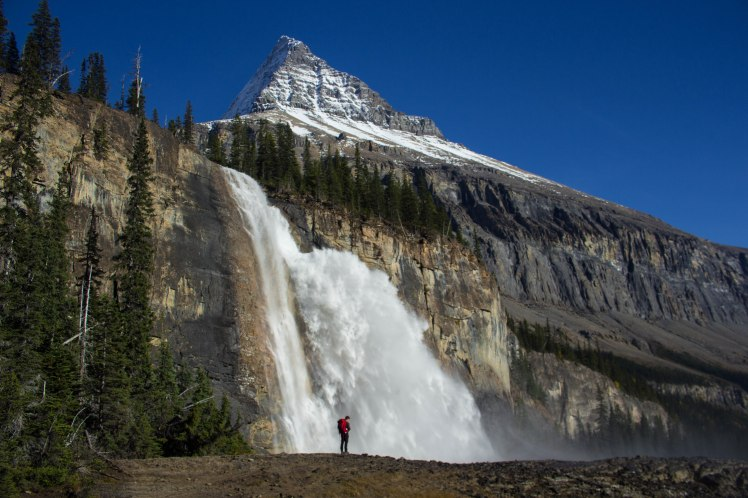 Emperor Falls living up to its name. Stevin needed a shower anyway...